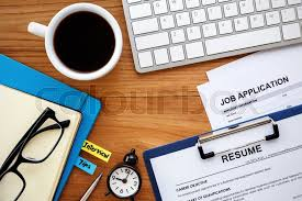 Resume Background Image Job Search With Resume And Job Application On Work Table