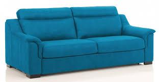 revetement canapé canapé convertible revêtement microfibre bleu helena modéle 1 place