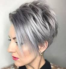 funky hairstyle for silver hair funky short pixie haircut with long bangs ideas 75 short pixie