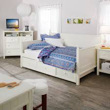bedroom white daybeds with trundles with white bedding and full