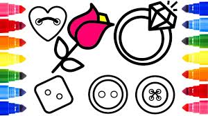 diamond ring coloring pages button coloring page learn colors for children diamond ring