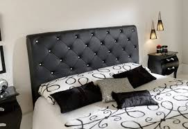 black and white bedroom designs bed mattress covered by white