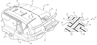 patent us6550843 composite roof bow for an automotive vehicle