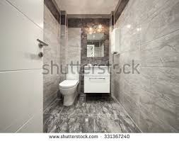 Modern Marble Bathroom Modern Marble Bathroom Interior Seamless Panorama Stock Photo