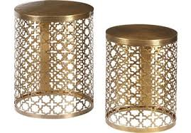 gold accent tables u0026 side tables