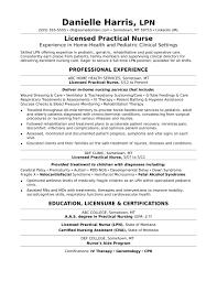 Sample Lpn Resume by Licensed Practical Nurse Sample Resume Free Resume Example And