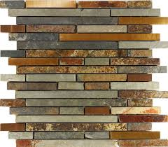Tumbled Slate Backsplash by Kitchen Backsplashes S Slate Kitchen Backsplash Mosaic Tile
