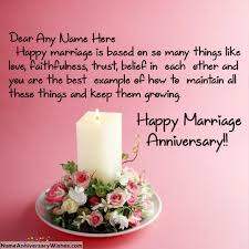 beautiful marriage wishes candle marriage anniversary wishes with name