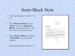 Semi Block Letter Format Business Letter Ms Word And Business Letters Letter Formats Lytle High