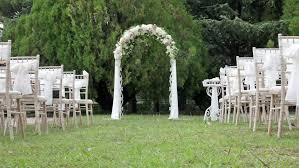Wedding Arches Definition Wedding Arch Decorated With Fresh Flowers Stockvideos