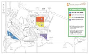 orange county convention center map parking orange county convention center