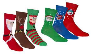 mens christmas socks six pack of men s christmas socks groupon