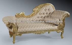 Chaise Lounge Sofa French Chaise Lounge Sofa Gold Leaf Solid Mahogany Wood Carved