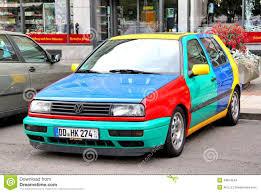 volkswagen harlequin volkswagen golf harlekin editorial stock image image 49874544