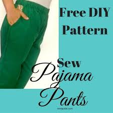 pattern pajama pants make easy pajama pants with pockets diy pattern sewing tutorial
