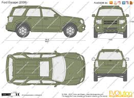 Ford Escape 2008 - the blueprints com vector drawing ford escape