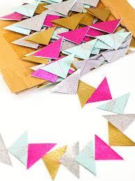 diy paper triangle garland christmas tree garland sarah hearts