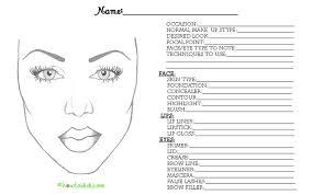 form eyelash extension consultation sheets face charts on pantone universe sephora makeup and sephora bridalhaircotract bridal