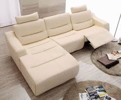Modern Reclining Sectional Sofas White Leather 2143 Modern Reclining Sectional Sofa By Esf