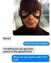 Wrong Number Meme - dopl3r com memes barry sorry wrong number im telling iris you