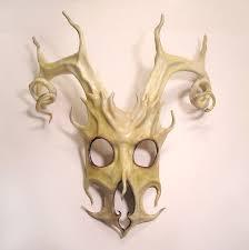 leather masquerade masks leather mask of stag spirit by teonova on deviantart