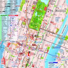 Mta Nyc Subway Map Download Manhattan Subway Map With Streets Major Tourist