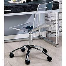 Amazoncom  Furniture of America Aja Acrylic Office Chair in Clear