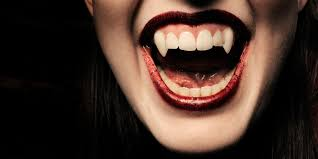 bloody vampire teeth
