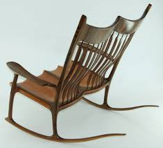 custom double rocking chair lacewood u0026 walnut finewoodworking