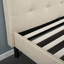bedroom upholstered tufted queen bed wood platform bed full full