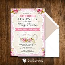 Tea Party Decorations For Adults Tea Party Birthday Invitation Printable Invite