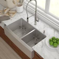 Double Stainless Steel Kitchen Sink by Stainless Steel Kitchen Sinks You U0027ll Love Wayfair