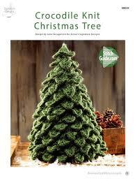 knit christmas crocodile knit christmas tree pattern