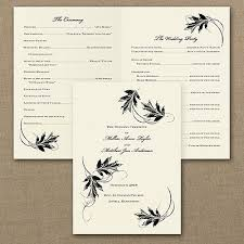 fall wedding programs 45 best wedding program ideas images on craft wedding