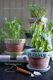 herb pots for windowsill diy raised label herb pots ella claire