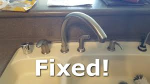 how to fix a leaky kitchen faucet spout youtube