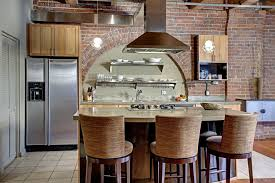 bar stool kitchen island swivel bar stools kitchen eclectic with barstool brick brick wall
