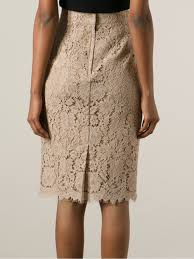 lace skirt lyst dolce gabbana floral lace skirt in
