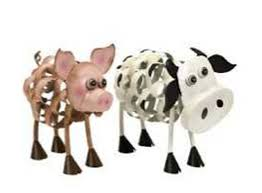 animal statues design for garden accessories whimsical figurines