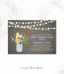 rustic wedding anniversary invitation 25th 50th anniversary