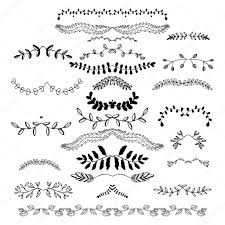 floral borders dingbats dividers wreaths stock