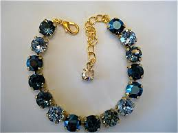 crystal bracelet swarovski images Midnight blue bridesmaid tennis bracelet swarovski crystal the JPG