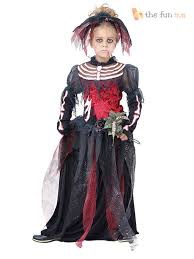 Girls Ghost Halloween Costume Girls Ghost Zombie Corpse Bride Fancy Dress Halloween Book Week