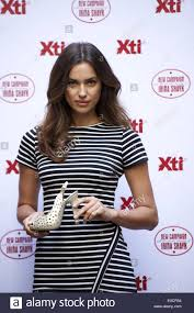 madrid spain 9th may 2014 irina shayk presents the xti shoes