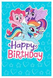 Mlp Birthday Card My Little Pony Hearts And Stars Birthday Card Greeting Cards