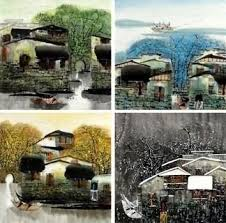 page 4 chinese screen paintings landscapes four seasons chinese