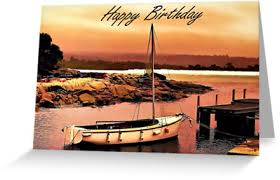 greeting card happy birthday boating fishing greeting cards