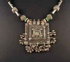 silver necklace from india images Rajasthan old silver filigree pendant indian jewelry jpg