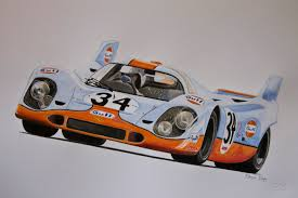 retro racing porsche porsche in vintage gulf livery awesome retro drawings