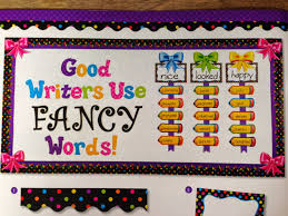 writing bulletin board idea black and neon classroom bulletin